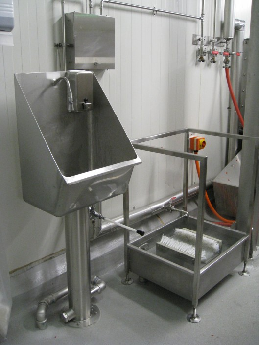 Stainless Steel Handwash Basins and Boot wash Stations