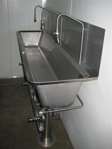 knee actuated handwash trough