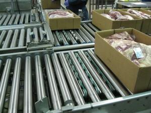 Carton Conveyor - Roller Conveyor - Meatworks