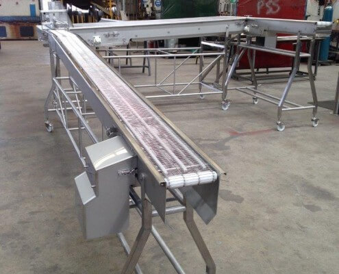 Frozen Products Conveyor - Wire Belt Conveyor